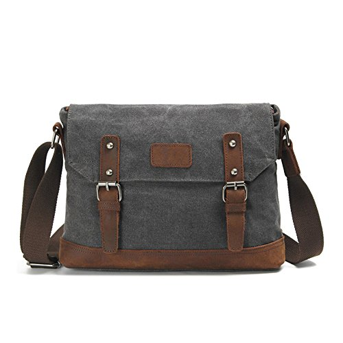 Paper Shoulder Large Men Bag Capacity Bag Bag Darkgray Bag Oil Canvas Messenger Bag Wax Retro BwXvtqwgf