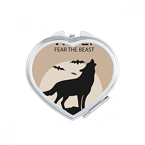 Wolf Ghost Fear Halloween Pumpkin Heart Compact Makeup
