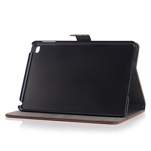 Mini iPad 5 Case 2019 Model, YiMiky Slim Folio Shell Smart Stand Case for 2019 Model iPad Mini 5 Ultra Slim Book Cover Protective Case for 7.9 Inch iPad Mini 5/ iPad Mini 4 2015 - Dark Brown by YiMiky (Image #2)