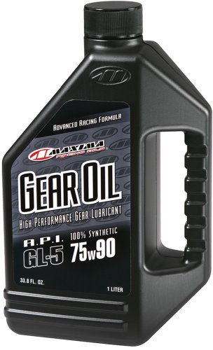 Maxima (44901) 75W-90 Hypoid Synthetic Gear Oil - 1 Liter (Mobile Oil Gear)