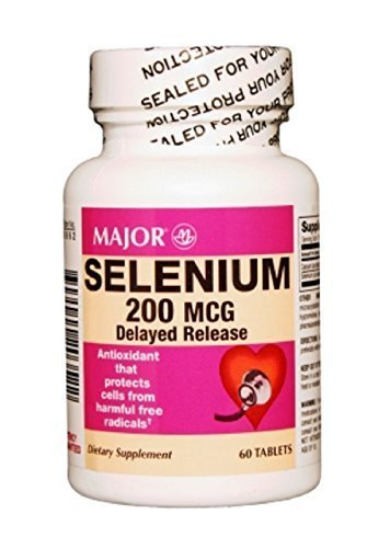 MAJOR SELENIUM 200MCG DR TABS SELENIUM YEAST-200 MCG Tan Speckled 60 TABLETS UPC 309044203522 by Major Pharmaceuticals (Speckled Tan)