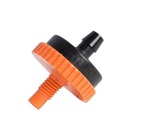 Orange 25 Pack Hunter HE-60-T-25 6.0 GPH Pressure Compensating 1032 Threaded Emitter
