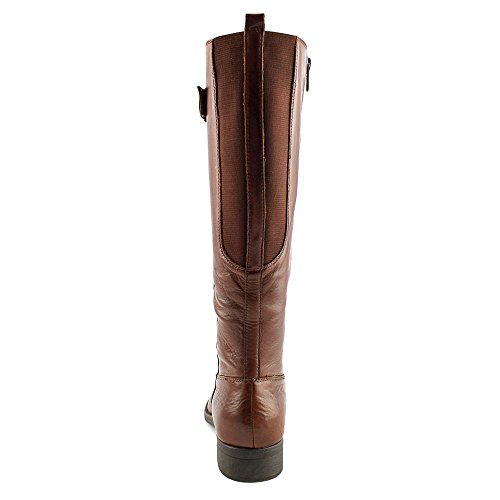 Dark High Fashion Brown Ruthie Closed Bare Knee Boots Womens Traps Toe Leather w6vPqA80x