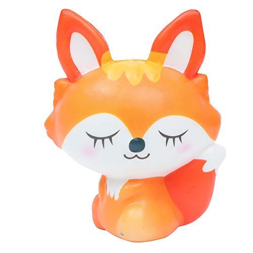 Staron Jumbo Squishies Slow Rising Fox Kawaii Animals Squishy Charms Exquisite Lovely Fox Soft Squishy Toys (Orange)