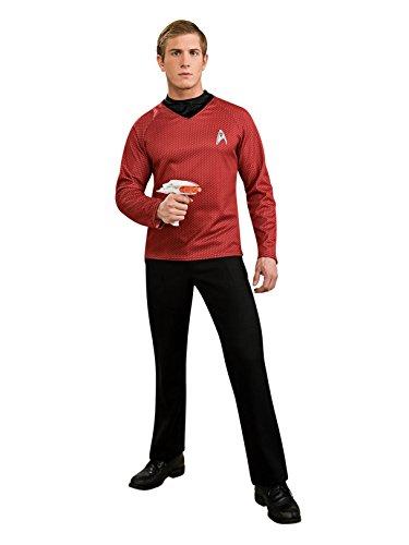 Star Trek Movie Deluxe Red Shirt, Adult Medium Costume -