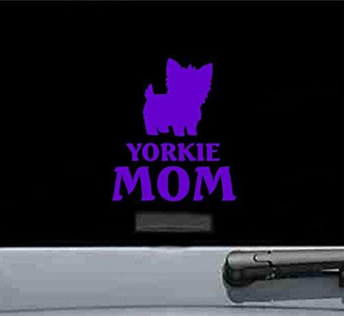 (JS Artworks Yorkie Mom Yorkshire Terrier Dog Vinyl Decal Sticker (Purple))