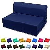 MaGshion Sleeper Chair Folding Foam Bed, Navy Blue, Full