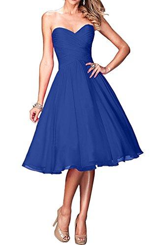 Braut Jugendweihe La Knielang Brautjungfernkleider Damen Royal Blau Abendkleider Marie Kurzes Kleider Cocktailkleider 4x656qaY