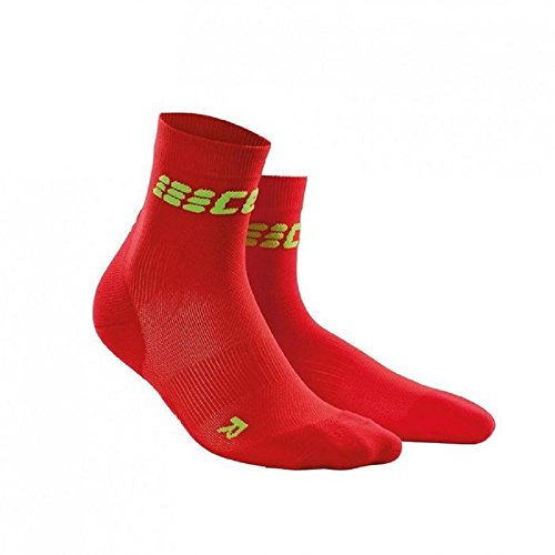 CEP Dynamic+ Women's Cycle Ultralight Short Socks (Red/Green) Size: II