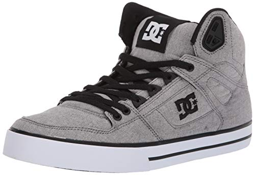 (DC Men's Pure HIGH-TOP WC TX SE Skate Shoe Grey 8 M US)