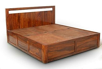 LifeEstyle Sheesham Wood Storage Box Bed King (Honey Medium)  sc 1 st  Amazon.in & LifeEstyle Sheesham Wood Storage Box Bed King (Honey Medium ...