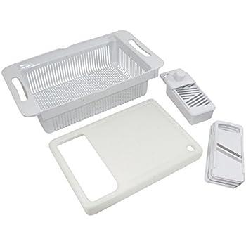 tci large over sink colander cutting board slicer kitchen dining. Black Bedroom Furniture Sets. Home Design Ideas