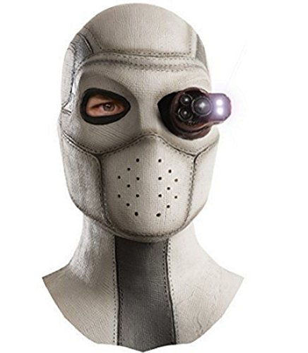 Deadshot Costume For Kids (Rubies Mens Suicide Squad Deadshot Overhead Lighted Latex Mask, Multi, One Size)