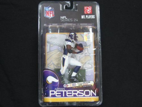 2010 MCFARLANE NFL 24 ADRIAN PETERSON BRONZE LEVEL WHITE JERSEY CHASE VARIANT FIGURE MCFARLANE TOYS