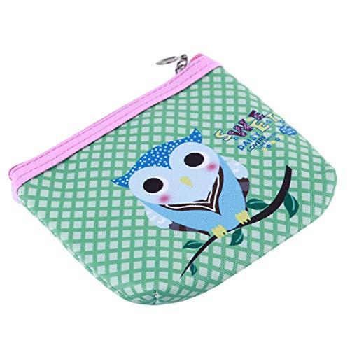 LZIYAN Cute Coin Purse Cartoon Owl Pattern Coin Purse Clutch Bag Portable Small Wallet With Zipper Storage Bag Creative Gift For Women,5# by LZIYAN (Image #2)