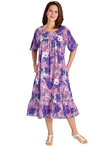 Muumuu Dress | Plus Size Muumuu Dress, Color Lilac, Size Extra Large (4X), Lilac, Size Extra Large (4X) ()