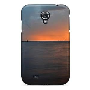 New Design Shatterproof RnaKVFg8502oftQu Case For Galaxy S4 (lightning At Sunset)