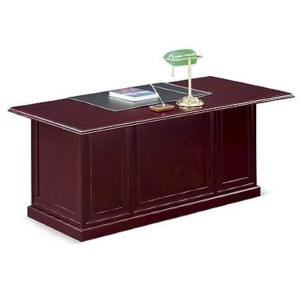 Magnificent Amazon Com Cherry Wood Executive Desk 72W Nbf Home Interior And Landscaping Spoatsignezvosmurscom