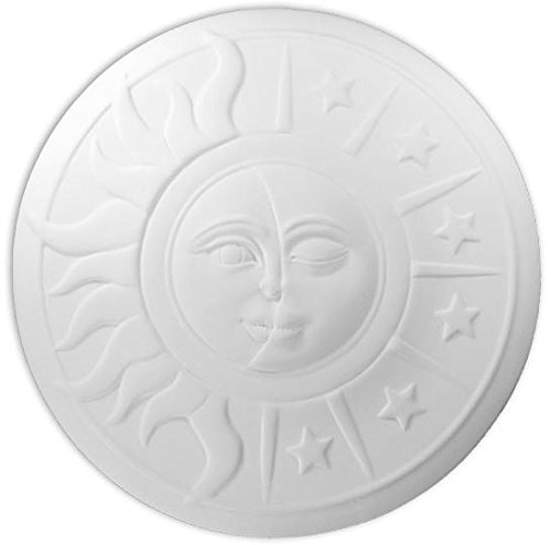 Sun & Moon Decorative Wall Hanging - Paint Your Own Ceramic Keepsake by New Hampshire Craftworks