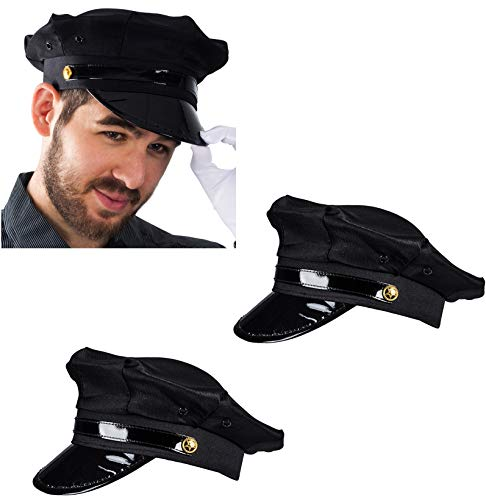 Funny Party Hats Chauffeur Hat - Limo Driver Hat - Police Hat - Costume Hats (2 -