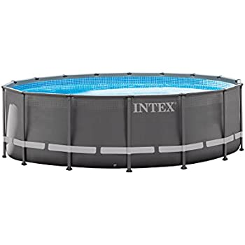 Intex 16ft X 48in Ultra Frame Pool Set with Filter Pump, Ladder, Ground Cloth & Pool Cover