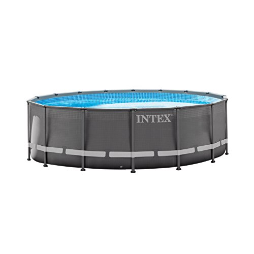 Intex 16ft X 48in Ultra Frame Pool Set with Sand Filter Pump, Ladder, Ground Cloth & Pool Cover by Intex