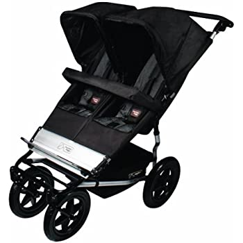 Mountain Buggy Duet Double Buggy Stroller, Black/Flint (Discontinued by Manufacturer)