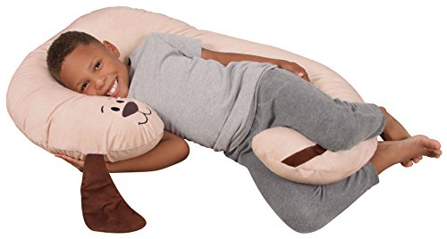 Leachco-Snoogle-Jr-Luxuriously-Soft-Plush-Puppy-with-Zippered-Removable-Cover–The-Snuggle-Cuddle-Animal-Body-Pillow-for-Kids