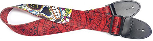 Stagg STE MEX SK RED Guitar Strap, Red Mexican - Strap Guitar Vinyl