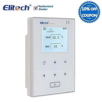 Temperatura y Humedad Registrador de datos WiFi Temp grabadora de Monitor inalámbrico termómetro frigorífico Elitech rcw800 WiFi: Amazon.es: Amazon.es