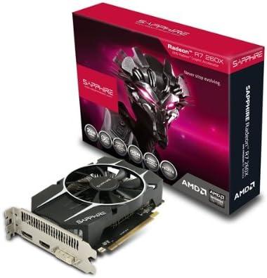 Amazon Com Sapphire Radeon R7 260x 2gb Gddr5 Hdmi Dvi I Dp Oc Version Pci Express Graphics Card 11222 06 20g Computers Accessories