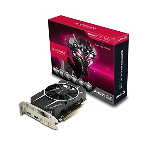 Sapphire Radeon R7 260X 2GB GDDR5 HDMI/DVI-I/DP OC Version PCI-Express Graphics Card 11222-06-20G (Amd Radeon 260)