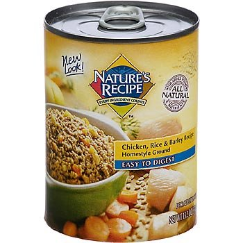 Nature's Recipe Easy to Digest Chicken, Rice and Barley Formula 13oz Canned Dog Food, Pack of 12