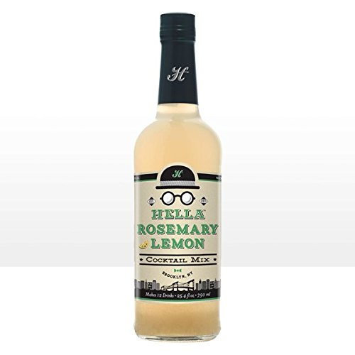 - Hella Cocktail Rosemary Lemon Cocktail Mixer, 750 ml Bottle, Non-Alcoholic