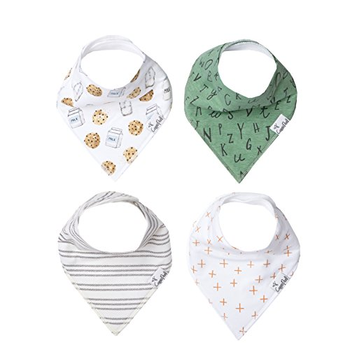 "Baby Bandana Drool Bibs 4 Pack Gift Set for Boys Or Girls ""Chip Set"" by Copper Pearl"