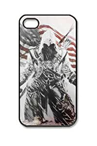 Assassins Creed 3 Cover Iphone 4/4S Black Sides Hard Shell PC Case by eeMuse