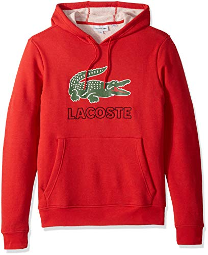 Lacoste Men's Long Sleeve Graphic Croc Brushed