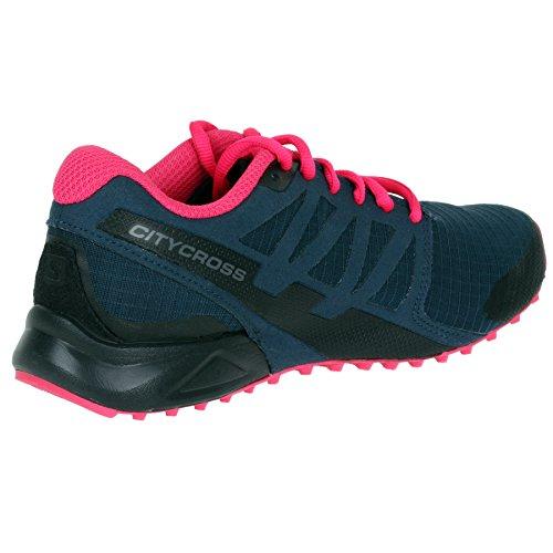 W Salomon Eu Cross Femme Rose Tennis Et City De Marine Chaussures Bleu 40 ZZEnrgwq