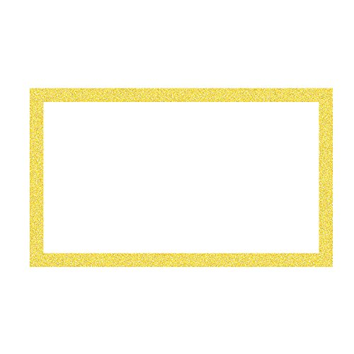 - ArtSkills Glitter Framed Poster Board, 13 x 22 Inches, Pack of 60, Gold (PA-2038)