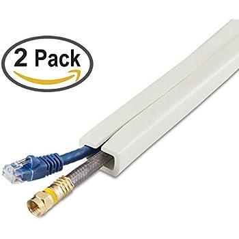 Amazon.com: UT Wire - 10 Foot Flexible Cord Channel - (White) | 2 ...