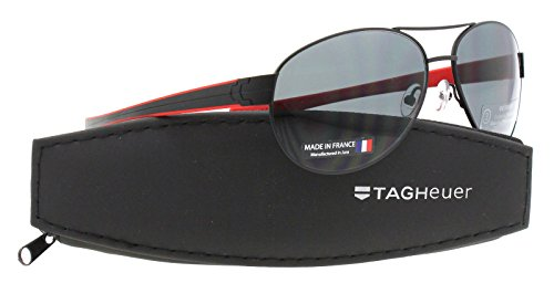 e34a02f3a15ab Tag Heuer Sunglasses LRS 0256-110 Black Red   Grey Outdoor Lens - Buy  Online in Oman.