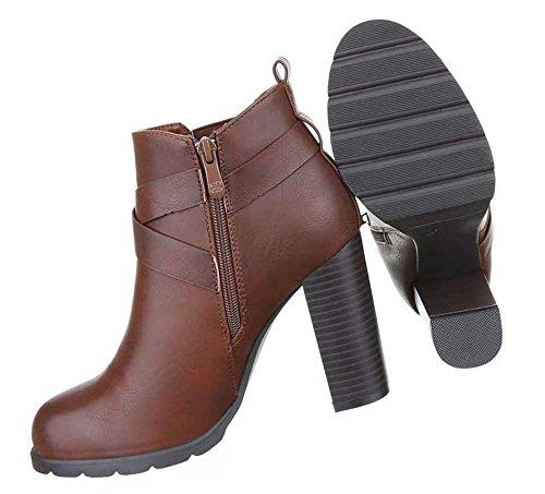 Damen Stiefeletten Schuhe Stretch Boots Hellbraun 38 pINmbRnk