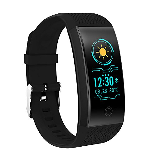 Auntwhale QW18 Colorful 0.96'' OLED Screen IP67 Waterproof Smart Bracelet With Continuous Heart Rate Monitoring & Sleep Monitoring & Step Counter Blue-tooth 4.0 Sports Bracelet by Auntwhale