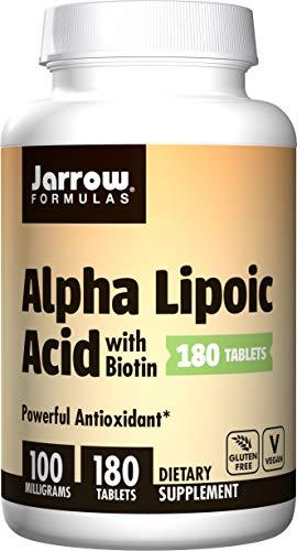 Jarrow Formulas Alpha Lipoic Acid, Supports Energy, Vision, Liver, Cardiovascular Health, 100 mg, 180 Easy-Solv Tabs