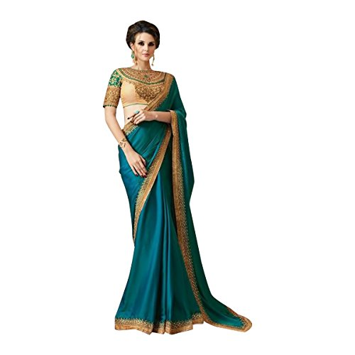 Bollywood Saree Sari Just Launched Pattren Blouse Women Wedding Ceremony Party Wear Diwali Festive 521 by ETHNIC EMPORIUM