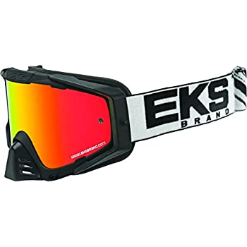 300b4474cf7 EKS Brand EKS-S Outrigger Adult Dirt Bike Motorcycle Goggles Eyewear -  Black White One Size Fits All