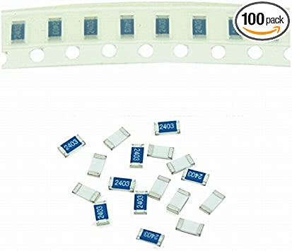 Continuous strip of 100 Thick Film Resistor 1206 1/% 1//4W 100ppm RK73H2BTTD KOA Speer 665 ohm SMD Surface Mount