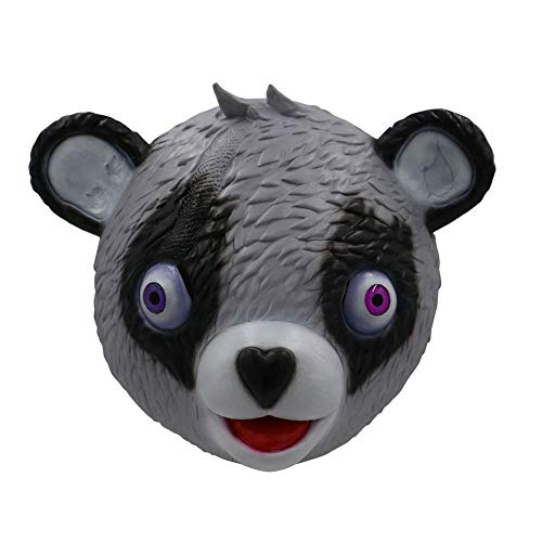 Umimi Newest Novelty Toy Halloween Costume Party Game Latex Animal Full Head Mask Cuddle Team Leader Fortnite Bear Game Mask (Grey)