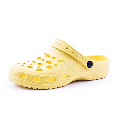 Sommer Damen Herren Schuhe Gelb Clogs Unisex Trendige Aqua Kinder Garten Wasser nXwUABxA