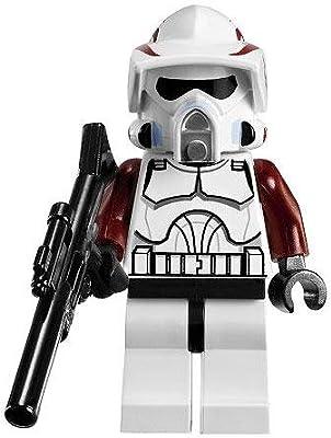 LEGO Star Wars LOOSE Mini Figure Clone Wars ARF Trooper with Dark Red Armor Accents & Blaster Rifle